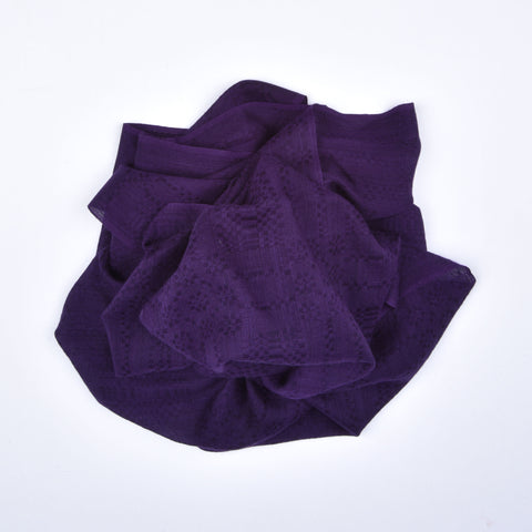 Purple Geometric Block Cashmere Scarf