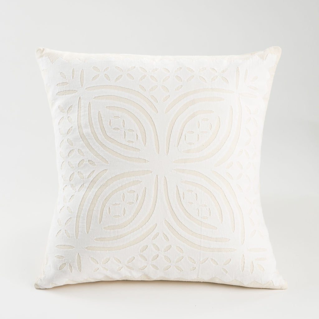 Radiant Cut Work Pillow