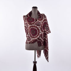 red himalayan cashmere scarf