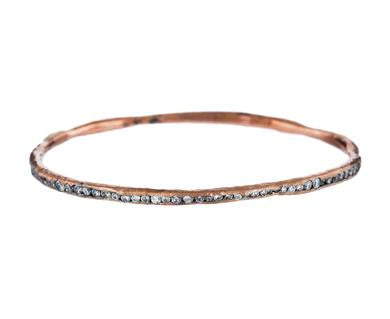The rose gold and diamond bracelet by Todd Pownell