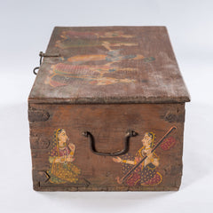 Antique Temple Trunk, Winged Angels