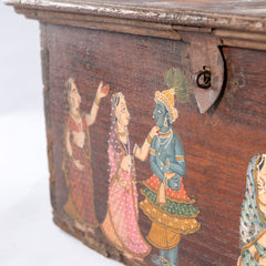 Antique Temple Trunk, White Wolf