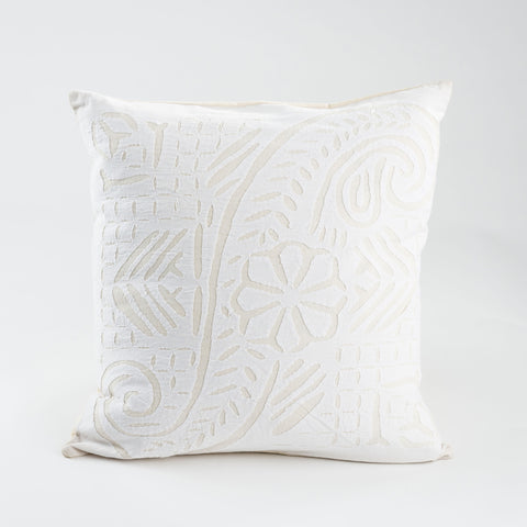 Vine Cut Work Pillow