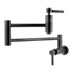 Elements of Design Nuvo Double Handle Wall Mount Pot Filler with Concord Lever Handles