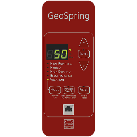 GE Geospring 50-Gallon 10-Year Hybrid Heat Pump Water Heater ENERGY STAR