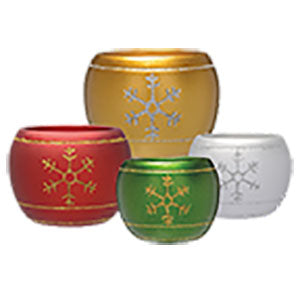 Snowflake Mini Round Assorted Colors