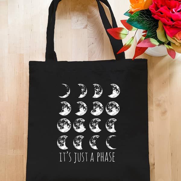 It's Just a Phase - Black Tote