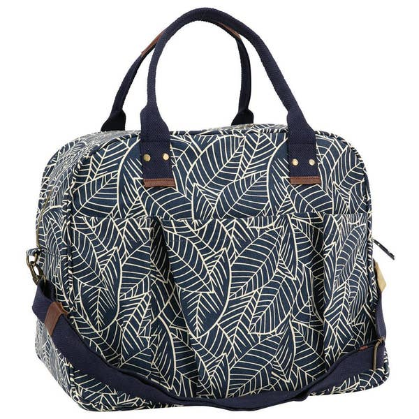 Lush Leaves Navy Weekender