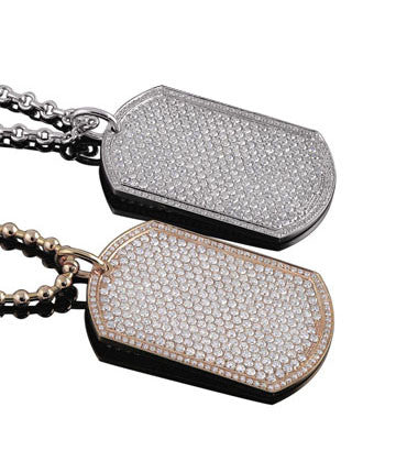 """ GI Pendant Tag""white or pink gold"