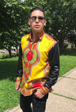 Long-sleeve Dashiki Botton Down - Kapy Bash Mode