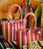 Pink striped purse - Kapy Bash Mode