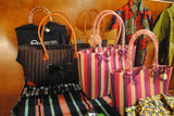Brown striped wide purse - Kapy Bash Mode