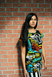 Short Sleeve Multi Colored Dress