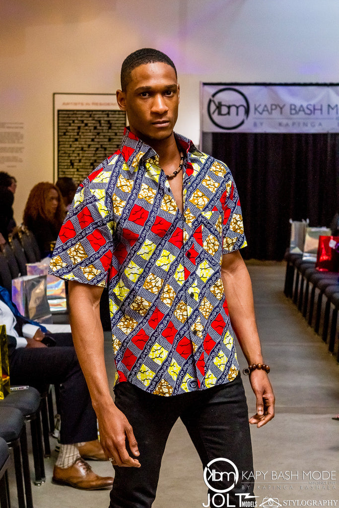 Box Print Short Sleeve Top - Kapy Bash Mode