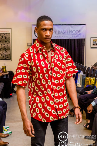 Zahir Red Short Sleeve - Kapy Bash Mode