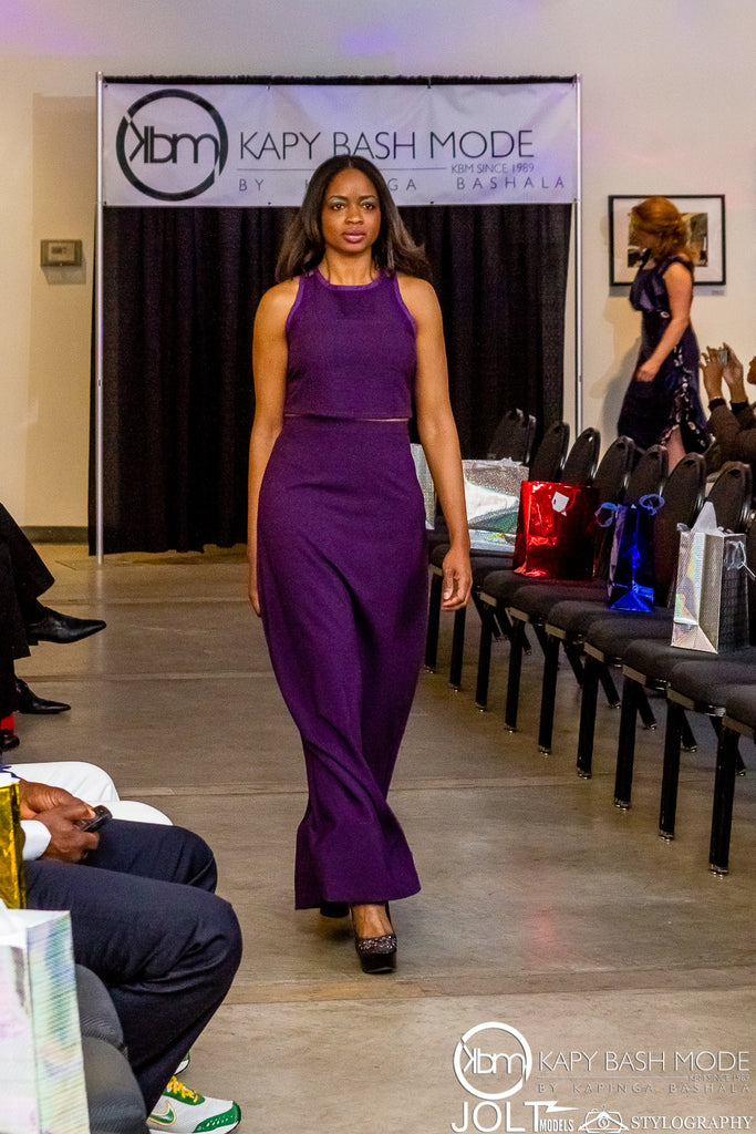 Purple Crop Top & High Waisted Skirt - Kapy Bash Mode
