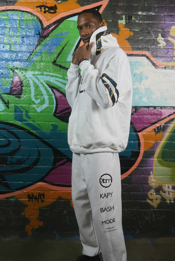 White Fleece Sweatpants - Kapy Bash Mode