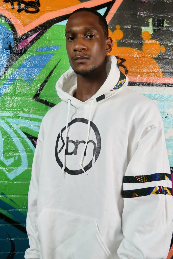 White Fleece Graphic Hoodie - Kapy Bash Mode