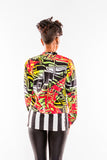 Abstract Print Chiffon Blouse - Kapy Bash Mode