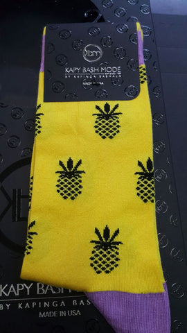 Unisex Pinapple Sock - Kapy Bash Mode