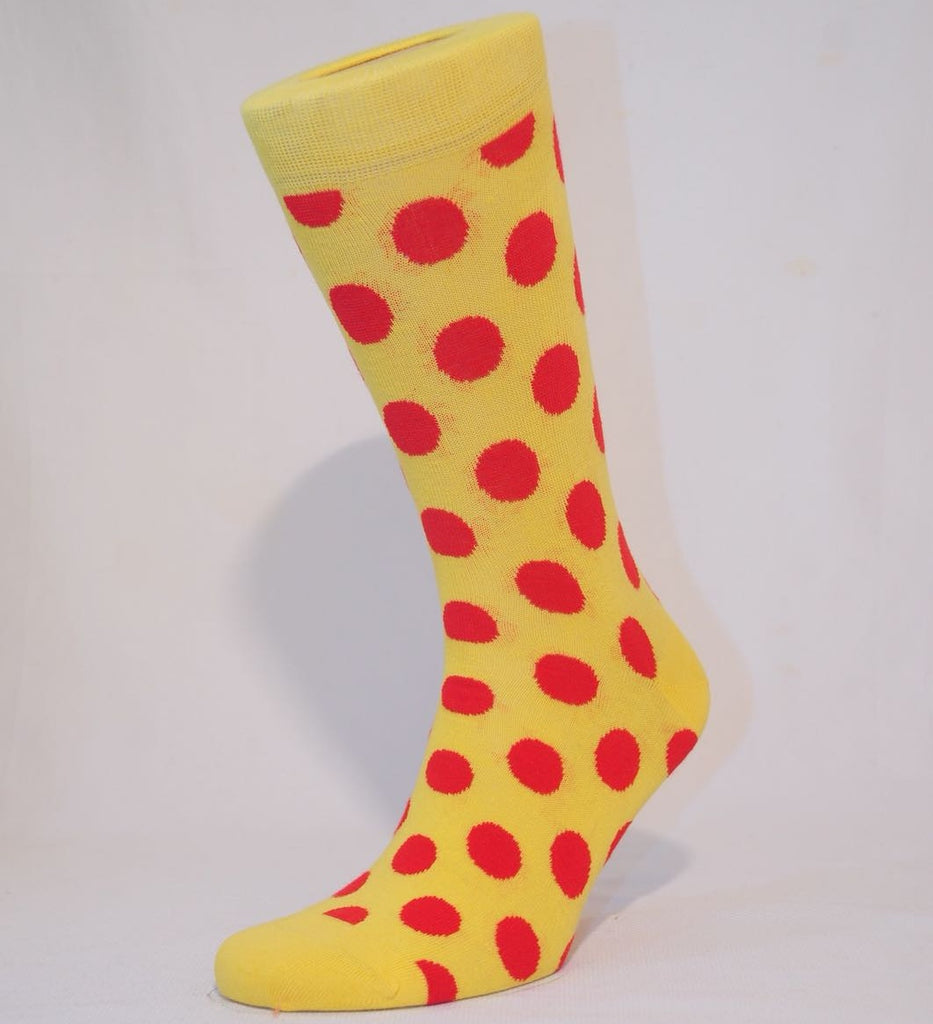 OUT OF STOCK! Unisex Red Polka Dot Sock - Kapy Bash Mode