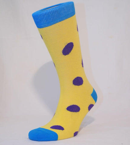 Unisex Purple Polka Dot Sock - Kapy Bash Mode