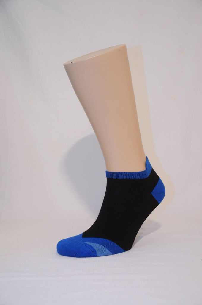 Unisex Black & Blue Ankle Sock