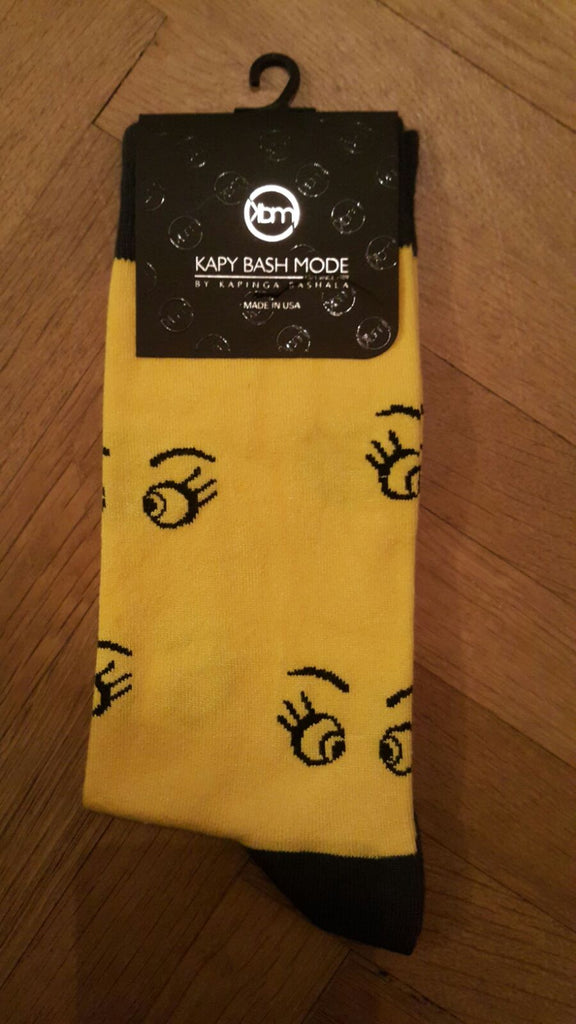Unisex Yellow Eyes Sock - Kapy Bash Mode