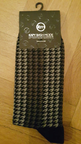 Unisex Gray & Black Classic Sock - Kapy Bash Mode