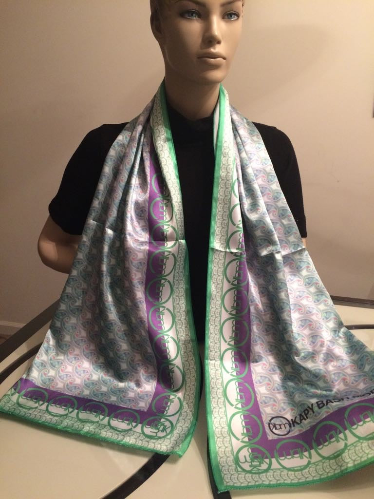 Elegance Women's Square Satin Scarf - Kapy Bash Mode