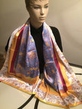 Cobalt Women's Square Satin Scarf - Kapy Bash Mode