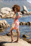 Printed Beach Cover-Up Wrap Dress - Kapy Bash Mode