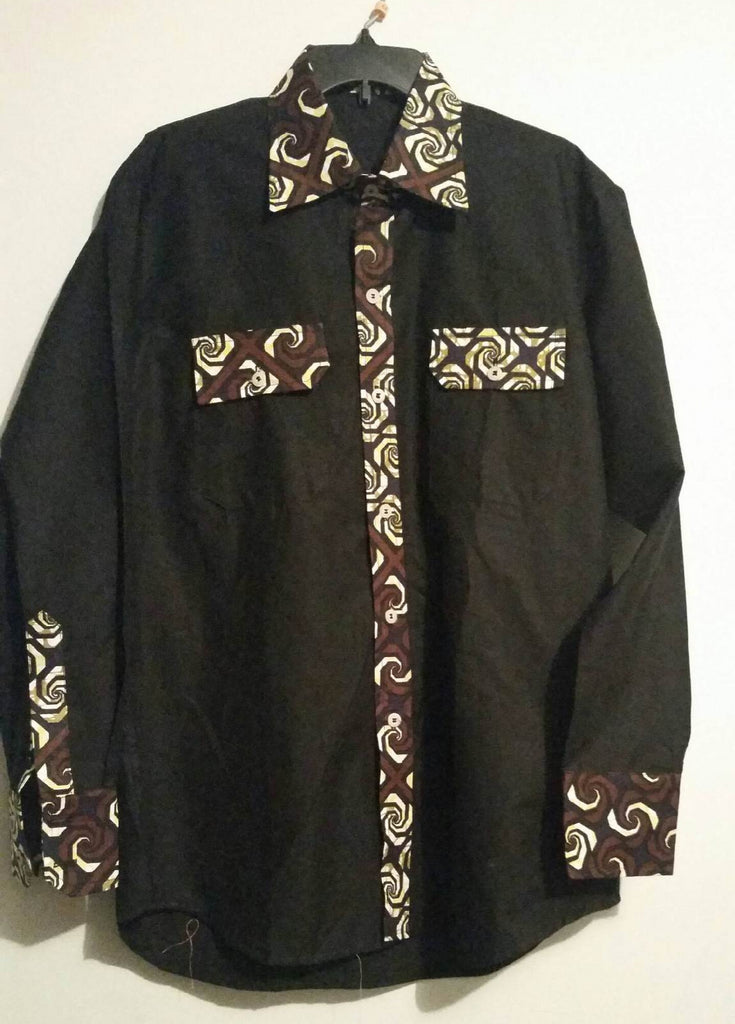 Black Long Sleeve W Brown Lining - Kapy Bash Mode