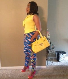 Colorful African Print Pant - Kapy Bash Mode