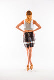 Sleeveless Crop top with orange lining - Kapy Bash Mode