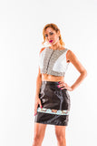 High waisted silk skirt - Kapy Bash Mode