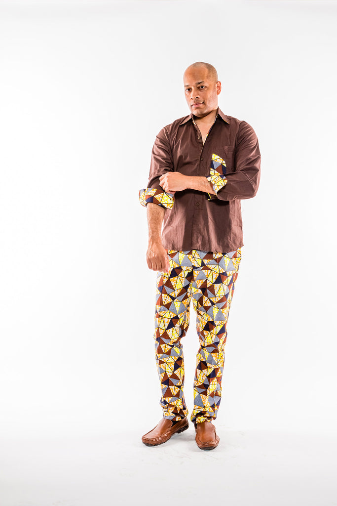 Brown long sleeve and pant set - Kapy Bash Mode