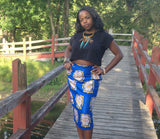 Blue Pencil Skirt - Kapy Bash Mode