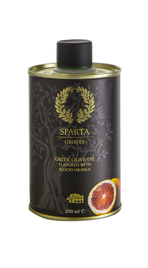 Sparta Groves Extra Virgin Olive Oil Flavored with Blood Orange 250ml - Katina's Greek Foods