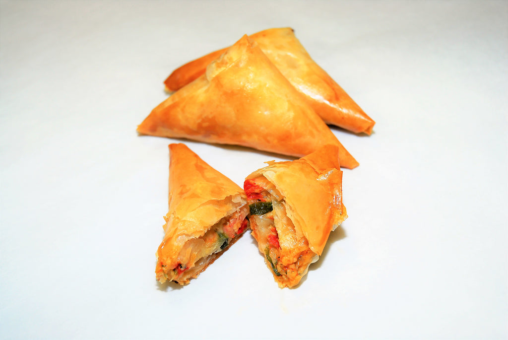 Tiropita with Sun Dried Tomatoes & Roasted Garlic - Katina's Greek Foods