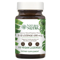 Natural Nutra Vitamin B12 Lozenges - Raspberry