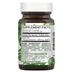 Vitamin B12 Lozenges - Raspberry - Natural Nutra