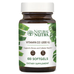 Natural Nutra Vitamin D3 1,000 IU