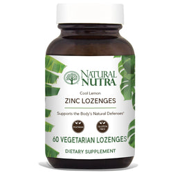 Zinc Lozenges - Lemon Flavor - Natural Nutra