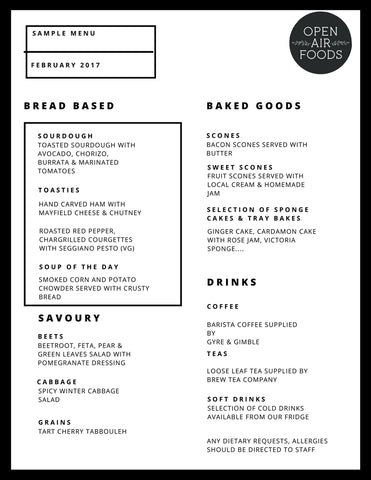 Sample Menu - February 2017