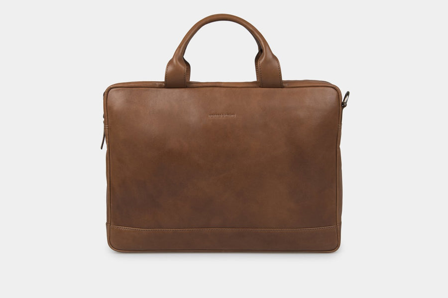 The Brighton Leather Briefcase travel product recommended by Ryun Holder on Lifney.