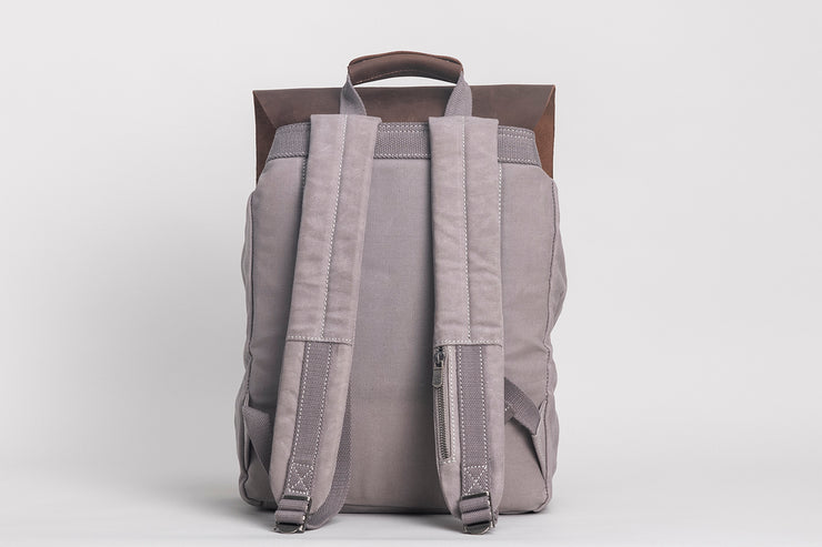 Devon Backpack Waxed Canvas Grey