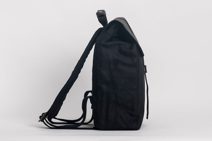 Littlehampton Backpack Waxed Canvas Black