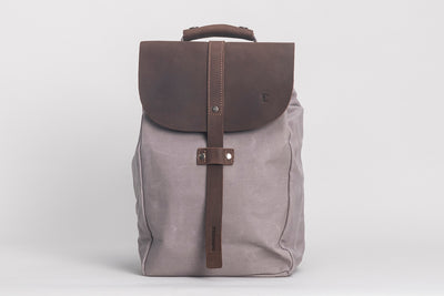 Littlehampton Backpack Waxed Canvas Grey