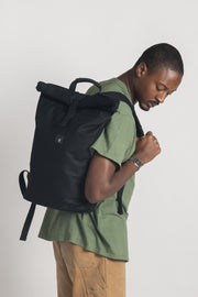 Rollie Backpack Waxed Canvas Black
